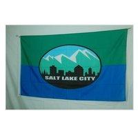 Salt Lake City Flagge 3x5FT 150x90cm 100D Polyester Outdoor oder Indoor Club Digitaldruck Banner Großhandel