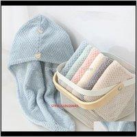 Bathroom Aessories Home & Gardenmagic Microfiber Bath Towel Hair Dry Quick Drying Lady Soft Shower Cap Hat For Turban Head Wrap Bathing Tools