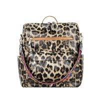 PU Guitar Shoulder Backpack DOM1494 Faux Bag Cow Backpacks Strap Print Leopard School Girl Leather Qpsdv