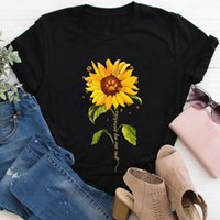 Women's T-Shirt You Are My Sunshine Sunflower Dog Paws 100%Cotton Women Tshirt Mom Life Funny Summer Casual Short Sleeve Tops Pet Lover Gift