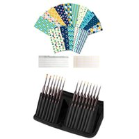 -1 Set wasserdichtes Geld Geldumschläge wiederverwendbar 1 Detail Pinsel Set, Miniatur Malerei Pinsel Kit Geschenk Wrap