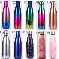 Galvanische Flasche Thermos-Tasse Doppelschicht Sportflaschen 304 Edelstahl Bowling Tasse Anpassung Sternenhimmel Blumen 17 Unzen