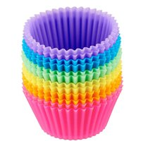 US STOCK The silica gel of Cupcake mould can be recycled for many times and is environmentally friendly