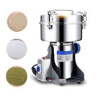 Molillas de café eléctricas 1000g / 2000g Granos Especias Hebals Cereales Molino de molino seco Máquina de molienda Gristmill Hogar Harina Polvo Trituradora