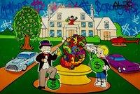 Luxus Herrenhaus Ölgemälde auf Leinwand Home Decor Handgemalt / HD-Print Wall Art Picture Anpassung ist akzeptabel 21050710