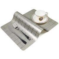 Rectangle Mats Dining Table Placemat Wedding Decoration Pads Kitchen Coffee Bar Coaster PVC Dinner Placemats 22 Styles