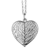 Collar de ala collar de sublimación de sublimación amor de amor colgantes de corazón cadena ángel amantes encantos accesorio de joyería de zinc aleación valentine wjl1330