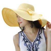 Geniş Brim Şapka Yaz Moda Chapéus 2021 Güneş Kadınlar Büyük Hasır Şapka Disket Ilmek Katlanır Zarif Plaj Kap