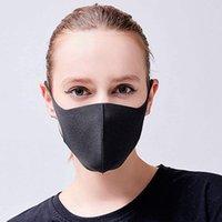 pcs 25 50 100 Mouth Face Mask Black Cotton Blend Anti Dust and nose protection K-POP Mask Fashion Reusable Masks for Man Woman