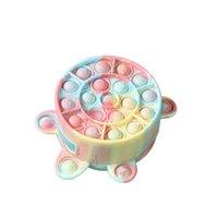 Cute Bag Fidget Toy Push it Animal Bubble Coin Purse Rainbow Finger Bubbles Storage Bags Sensory Squeeze Decompression Gift