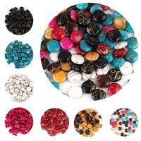 50 unids / lote 12 mm perlas acrílicas espaciador sueltas perlas para la joyería que hace bricolaje Pendiente de bricolaje # QI04 1965 Q2