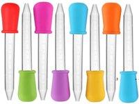 10 가지 색상 5ml 실리콘 액체 Droppers 플라스틱 피펫 송신 팁 사탕 오일 주방 거미 만들기 금형 ewa4876