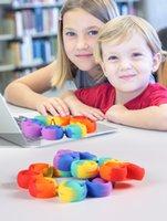 Fidget Reliver stress Toys Rainbow Bracelet Spinger It Bolla Antistress Adulto Bambini per bambini Sensory Toy per alleviare l'autismo