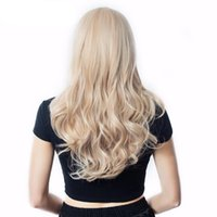 America Africa Europe women lady long Blonde hair Synthetic Wig Natural Wave with cap