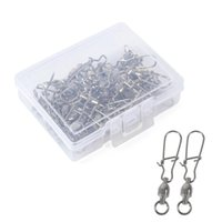 25 unids / caja de pesca SHORK Conector Snap de Bola Rodamiento Rodamiento Pin Swivels Back Kit Accesorios