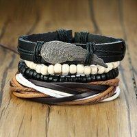 Charm Bracelets ZORCVENS Braided Leather Wrap For Men Women Vintage Angel Wood Beads Bracelet Bangle