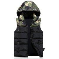 Men's Vests 2021 Sleeveless Hoodie Vest Men Winter Fashion Warm Black Jacket Slim Waistcoat For Windbreaker Coats