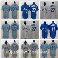 2020 Blue Men Женщины Детские Джейс 99 Hyun-Jin Ryu 27 Владимир Герреро-младший 11 Бо Бихет Золотое издание Новый бейсбол Джерси Быстрый