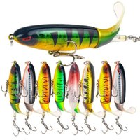 1Pcs Quality Whopper Plopper 100Mm 13.2G Top Water Popper Fishing Lure Hard Bait Wobblers Rotating Soft Tail Fishing Tackle Ppigg 571 X2