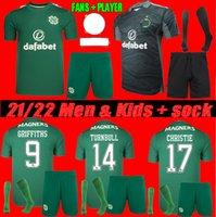 FANS + PLAYER 2022 Celtic Home Soccer Jerseys Edouard 21 22 ELyelounussi McGregor Duffy Forrest Christie Camicia calcio Griffiths Men Bambini Kit Uniformi