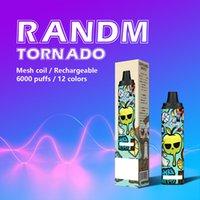 100% Oranginal RandM Tornado Disposable Vape Pen r&m E Cigarette Device With Airflow Control Rechargeable 12ml Pod 6000 Puffs Vapes