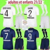 PSG Джерси ПСЖ Комплект для взрослых 20 21 22 NEYMAR JR Футболки 2020 2021 2022 Paris Home Away Third VERRATTI MBAPPE мужской костюм футбольные рубашки DI MARIA мужской комплект