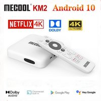 Mecool KM2 Google Certified 4K TV Box Android 10.0 Media Player Android10 ATV BT 2T2R Dual Wifi Dolby Audio Prime Video