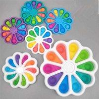 Favor Favor Creative Rainbow Flor Flor Extrusão Pinch Music Brinquedos para crianças e adultos Relevação de alívio de estresse e fácil de transportar