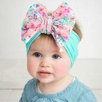 Nylon flower Hair Accessories Children's Hairband Baby Super Stretch Bow Girls Big Bows Solid Headbands