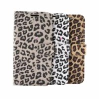 Leopard Animal Leather Wallet Phone Cases For Iphone 13 Mini 12 Pro Max 11 XR XS 8 7 Samsung S21 Note 20 Credit ID Card Slot Magnetic Holder Flip Cover Print Book Pouch