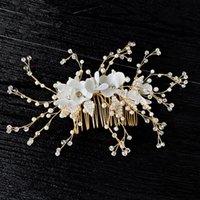 Зажимы для волос Barnettes Acrddk мода жемчужины расчески для женщин 2021 шикарный хороший хрустальный головной убор Элегантные свадебные свадебные аксессуары