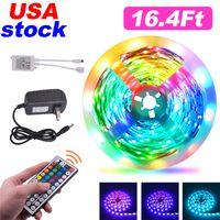 16.4Ft 32.8Ft LED Strips 5M 10M RGB 5050 Strip lights 30LEDs M With 44 Key Remote Control