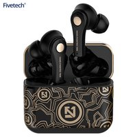 Fivetech TWS Wireless Bluetooth Headset 5.0 Sport Waterproof Earbud Earphone for iPhone 12 Pro Max 12 Pro 12 Mini Xiaomi Samsung