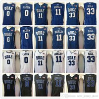 Pas cher NCAA Duke Blue Devils Jayson 0 Tatum Jersey Blanc Blanc Blanc 11 Bobby Hurley Grant33 Hill College University Jerseys Expédition rapide