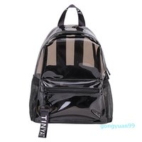 Transparent backpack new fashion casual tide girls jelly backpack large capacity summer beach waterproof school bag