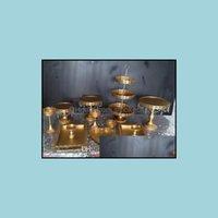 Cucina, Dining Home Gardenset di 12 pezzi Oro Matrimonio Cupcake Stand Crystal Candy Bar Decoration Tools Tools Set di Bakeware Set Drop Consegna