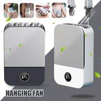 Neck Fan Mini Portable Usb Cooler Rechargeable Ventilador Outdoor Travel Handheld Silent Waist Cooling Fans LED Display Electric
