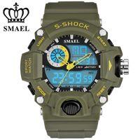 Nowa marka Zegarki Mężczyźni G Styl WateProof s Szorstki Sport Męskie Zegarki Top Marka Luksusowy LED Digital-Watch Wojskowy Wojskowy Wristwatches X0524