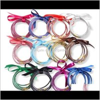 Jelly, Glow Jewelrywholesale 5Pcs  All Weather Bangles Set Glitter Filled Sile Plastic Bowknot Jelly Summer Bracelets Selling Ps2253 Drop De