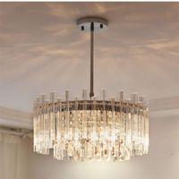 Pendant Lamps Modern Minimalist Crystal Lights Lustre Bedroom Living Dining Room Led Indoor Lighting Lamp Decor Hanging Light Fixture