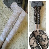 Women Summer Lace Leggings Flower Lace Hollow Out Tights Spring Autumn Clothing Legging
