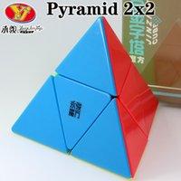 매직 큐브 퍼즐 용총 피라미드 2x2x2 Jinzita 전문 슈퍼 스피드 큐브 교육 크리 에이 티브 트위스트 지혜 장난감 게임 선물