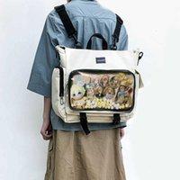 ITA 가방 배낭 맑은 포켓 여성용 대용량 소녀 투명 어깨 이탈 숄더 이탈리아 디스플레이 스트리트 백팩 H203 210902