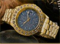 Montre de luxe uomini grandi diamanti famosi orologio da donna vestito completo in acciaio inox zaffiro impermeabile da donna con coppie classiche in orologio da polso