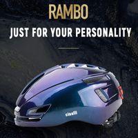 Helmet de moto Cinelli Vélo Cyclisme Casque Cycle moteur Hommes Femmes MTV Scooter USB Charging AVERTISSEMENT