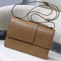 Womens 작은 정품 진짜 가죽 Monta1 가방 큰 로고 숄더 크로스 바디 핸드백 탑 7A 품질 패션 핸드백 상자 날짜 코드
