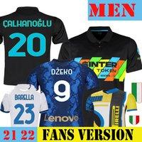 2021 2022 EDIN DZEKO LAUTARO INTER MARTINEZ Soccer Jersey 21 22 Football Shirt Fan & Player Version White BARELLA MILAN ERIKSEN CORREA 3rd Black 4th I M Fourth Yellow