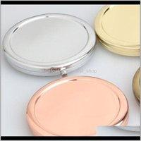 化粧手鏡の小型化粧品マルチカラーDIYミラーラウンド折り畳んだオリジナリティ小さなギフトソリッドメタルベース4 3RL M2 QC7CZ 0ZNQO