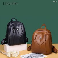 Backpack Retro Leather Large-capacity Travel Outdoor Multifunctional Leisure Schoolbag Storage Supplies Organizer
