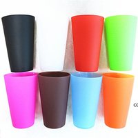 Reusable Silicone Wine Glasses Portable Printed Outdoor Beer Drinking Cup for Travel Picnic Pool Camping DHD8815